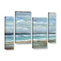 ArtWall Silvia Vassileva's Seashore, 4 Piece Gallery Wrapped Canvas Staggered Set