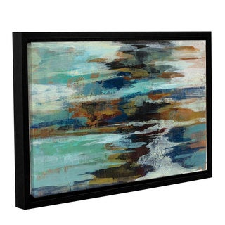 ArtWall Silvia Vassileva's Glacier Edge, Gallery Wrapped Floater-framed Canvas