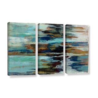ArtWall Silvia Vassileva's Glacier Edge, 3 Piece Gallery Wrapped Canvas Set