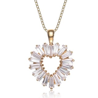 Collette Z Sterling Silver Cubic Zirconia Gold Plating Clear Necklace
