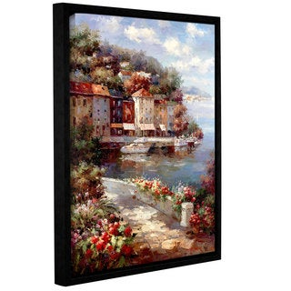 ArtWall 0 Axiano's Mante Carlo Harbor, Gallery Wrapped Floater-framed Canvas