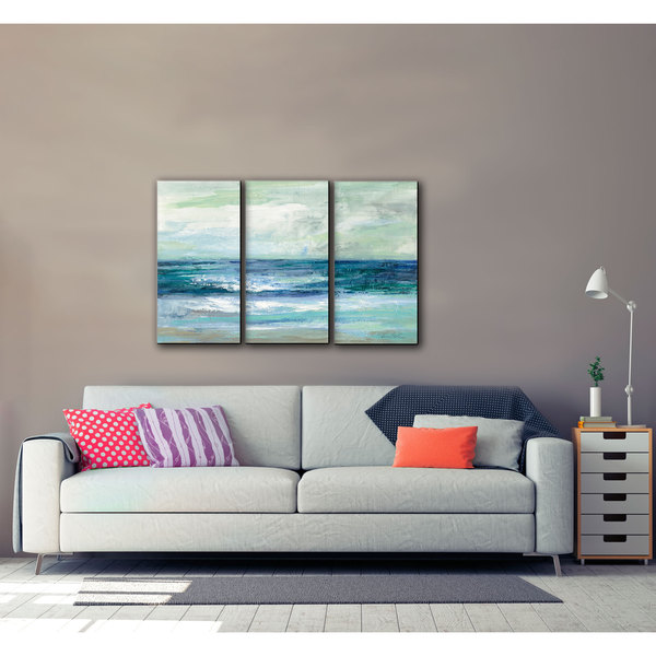Artwall Silvia Vassileva S Tide 3 Piece Gallery Wrapped