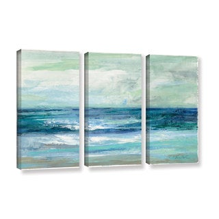 ArtWall Silvia Vassileva's Tide, 3 Piece Gallery Wrapped Canvas Set