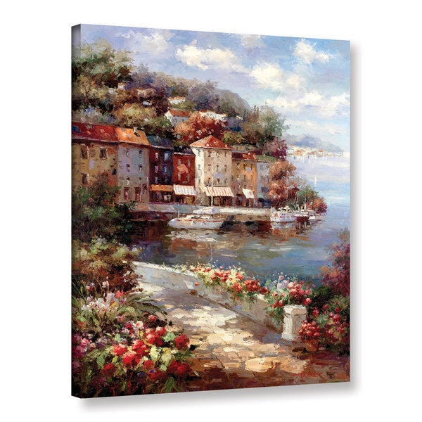 Art Wall 0 Axiano's Mante Carlo Harbor, Gallery Wrapped Canvas by Art Wall