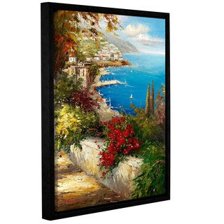 ArtWall 0 Axiano's Village By The Sea, Gallery Wrapped Floater-framed Canvas