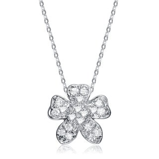 Collette Z Sterling Silver White Cubic Zirconia Necklace