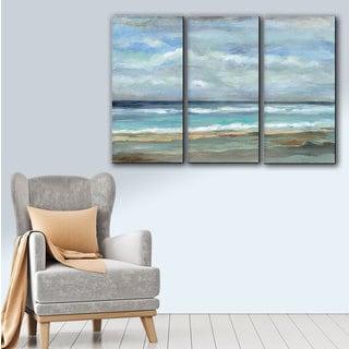ArtWall Silvia Vassileva's Early Morning Waves, Gallery Wrapped Canvas