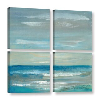 ArtWall Silvia Vassileva's Early Morning Waves, 4 Piece Gallery Wrapped Canvas Square Set