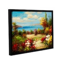 ArtWall 0 Axiano's Coveside Garden, Gallery Wrapped Floater-framed Canvas