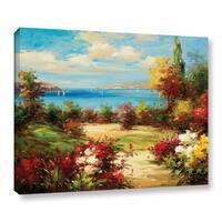 ArtWall 0 Axiano's Coveside Garden, Gallery Wrapped Canvas