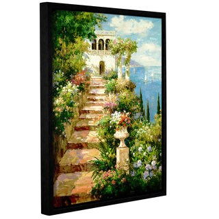 ArtWall Peter Bell's Summer Vista, Gallery Wrapped Floater-framed Canvas