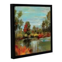 ArtWall Silvia Vassileva's Hidden Pond Hues I, Gallery Wrapped Floater-framed Canvas