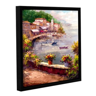 ArtWall Peter Bell's Italian Harbor, Gallery Wrapped Floater-framed Canvas