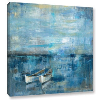 ArtWall Silvia Vassileva's Two Boats, Gallery Wrapped Canvas - Blue