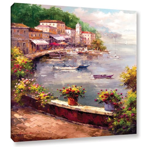 ArtWall Peter Bell's Italian Harbor, Gallery Wrapped Canvas