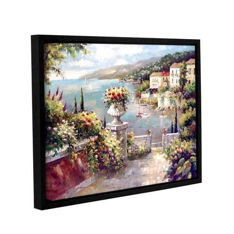 ArtWall Peter Bell's Capri Vista II, Gallery Wrapped Floater-framed Canvas