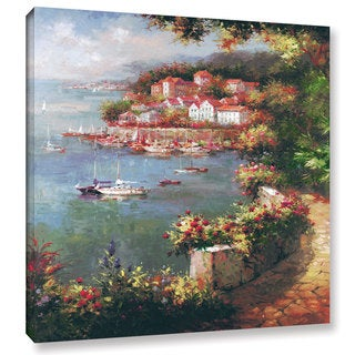 ArtWall Peter Bell's Rose Path, Gallery Wrapped Canvas