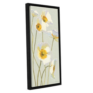 ArtWall Shirly Novak's White On White Poppies I, Gallery Wrapped Floater-framed Canvas
