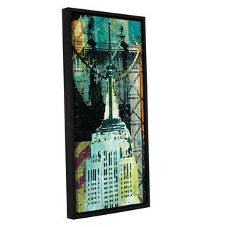 ArtWall Roque Silva's NY Graffiti Panel II, Gallery Wrapped Floater-framed Canvas