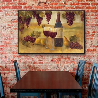 ArtWall Silvia Vassileva's Fresco Afternoon Pinot, Gallery Wrapped Floater-framed Canvas
