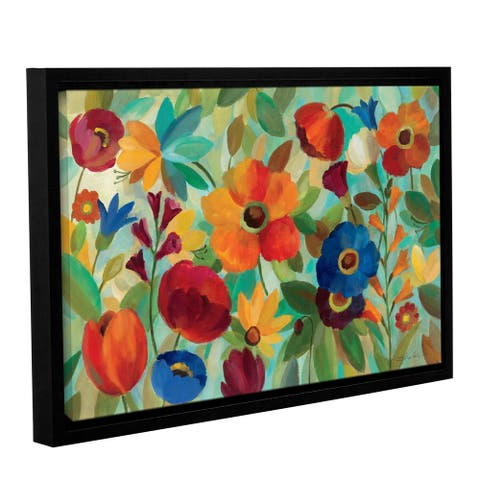 ArtWall Silvia Vassileva's Summer Floral V, Gallery Wrapped Floater-framed Canvas