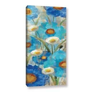ArtWall Silvia Vassileva's Sunkissed Blue And White Flowers I, Gallery Wrapped Canvas