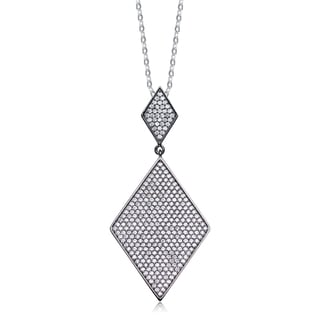 Collette Z Sterling Silver White Cubic Zirconia Pendant