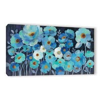 ArtWall Silvia Vassileva's Indigo Flowers, Gallery Wrapped Canvas