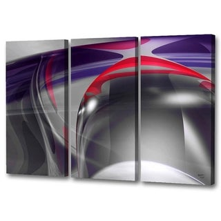 Menaul Fine Art's  'Plum Swirls Triptych'  by Scott J. Menaul