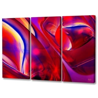Menaul Fine Art's  'Red Swirls Triptych'  by Scott J. Menaul