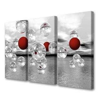 Menaul Fine Art's 'Crimson Spheres Triptpych' by Scott J. Menaul