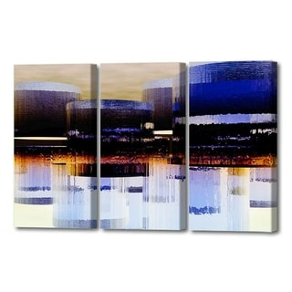 Menaul Fine Art's  'Cylinder City Triptych'  by Scott J. Menaul