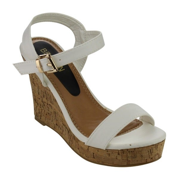 Beston EA48 Women's Classic Platform Toe Strap Wedge Dress Sandals. Opens flyout.