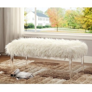 Silver Orchid Kelly Fantastic Flokati Bench