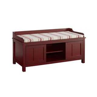 Linon Amy Rouge Storage Bench