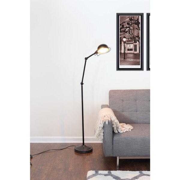 LumiSource Banks Antique Brown Metal Industrial-style Vintage Floor Lamp