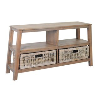 The Lauren Double Wide Low Shelf Grey
