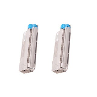 2-pack Compatible 44318604 Toner Cartridge for Oki C711 C711N C711DN C711DTN (Pack of 2)