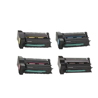 1Set Compatible 39V0923 39V0924 39V0925 39V0926 Toner Cartridge for IBM InfoPrint Color 1654 1664 (Pack of 4)