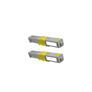 2-pack Compatible 44469701 Yellow Toner Cartridges for Oki AcuLaser C330 C330DN C530 C530DN (Pack of 2)