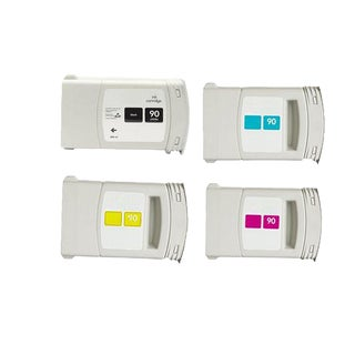 Set Compatible C5058A C5061A C5063A C5065A #90 Ink Cartridge for HP DesignJet 4000 4500 (Pack of 4)