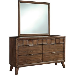 Signature Design by Ashley Debeaux Medium Brown Dresser and Mirror Combo