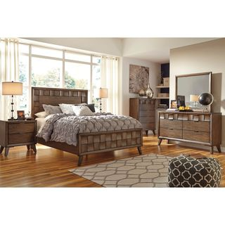 Signature Design by Ashley Debeaux Medium Brown Panel Bed