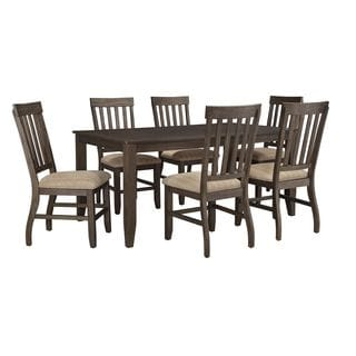 Signature Design By Ashley Dresbar Cream Table And Four Chairs Set