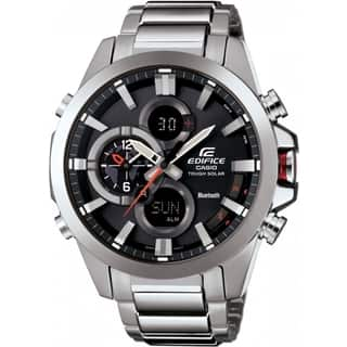 Casio Edifice ECB500D-1A Stainless Steel Smartphone Link Dual World Time Watch|https://ak1.ostkcdn.com/images/products/11064987/P18075216.jpg?impolicy=medium