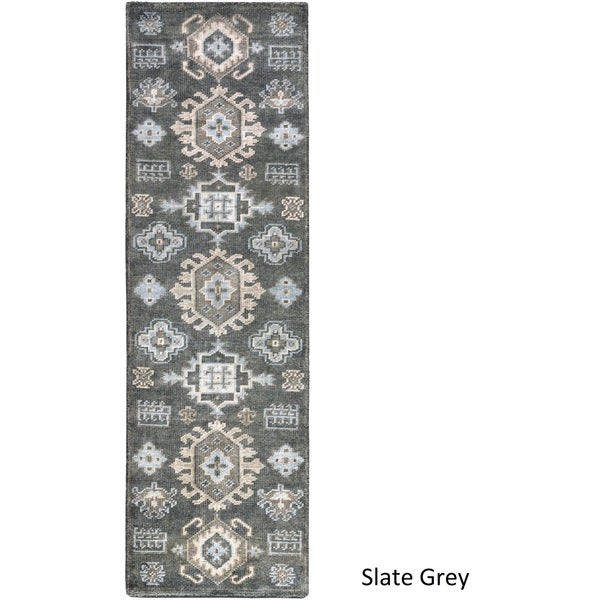 Hand Knotted Makenzie Wool Rug (2'6 x 8')