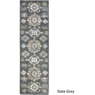 "Hand Knotted Makenzie Wool Area Rug - 2'6"" x 8' Runner"