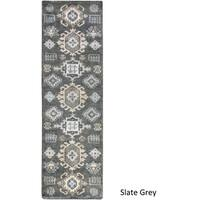 Hand Knotted Makenzie Wool Area Rug - 2'6 x 8'