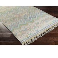 Hand Woven Marguerite Cotton Area Rug - 4' x 6'