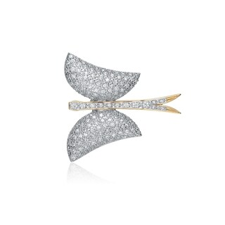 Collette Z Sterling Silver White Cubic Zirconia Gold Plating Clear Pin